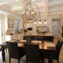 dining room with wood furniture