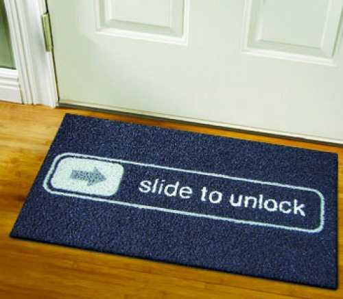 25 creative office decor ideas lighten up office designs and add fun to work - Geeky welcome mats ...