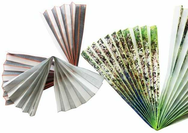 plisse fabrics with prints