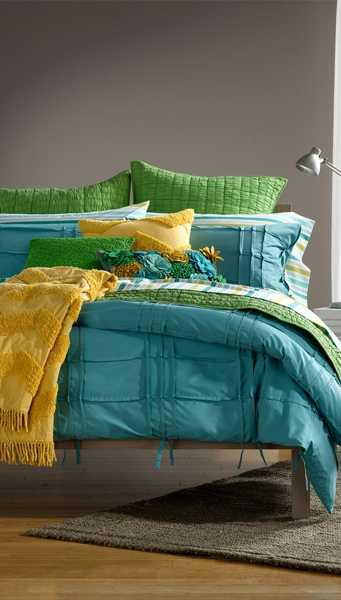 yellow blue and green color combinations for bedding