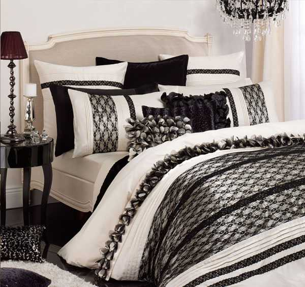 Textured bedding sets add flare and charm to bedroom - Black and white bedding sets ...