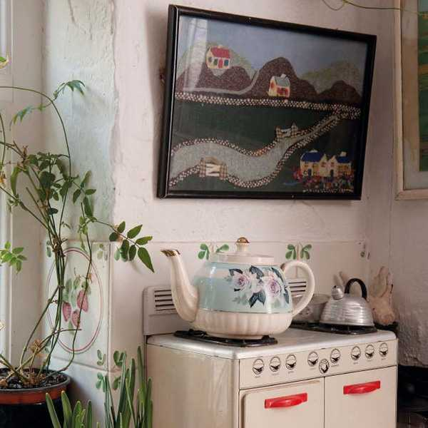 kitchen stove in vintage style