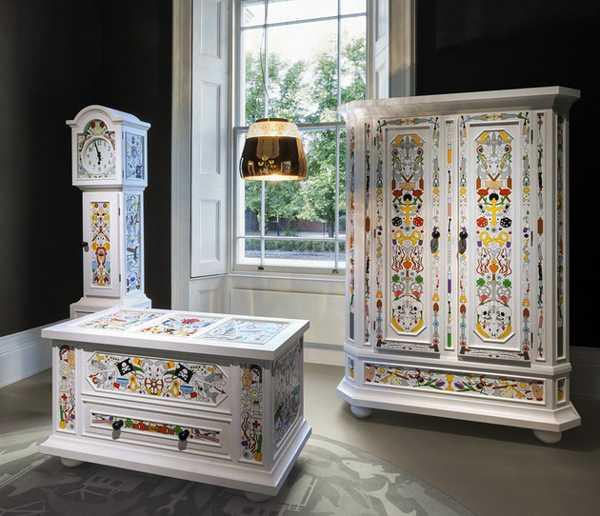 Decorate Furniture: Bright Vintage Furniture Blending Vivid Paint Colors And