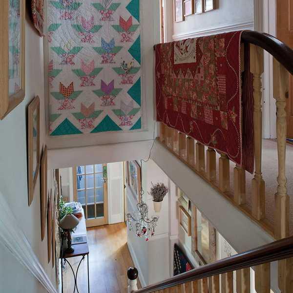 handmade home decorations, patchwork throw