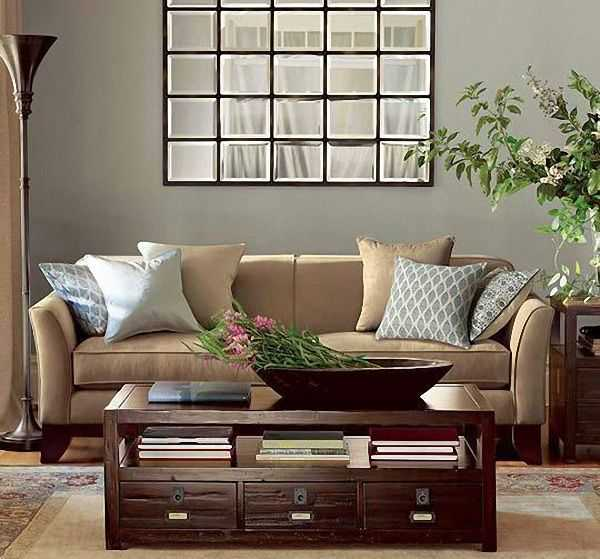 Modern window mirror designs bringing nostalgic trends for Living room mirrors