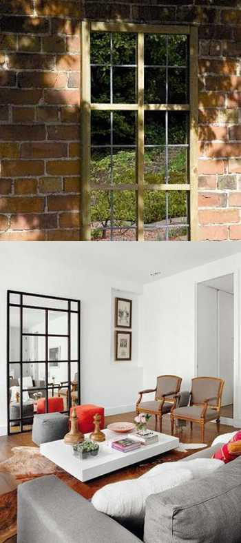 window mirrors for interior decorating and outdoor rooms