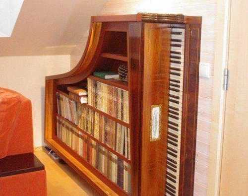 piano book shelves