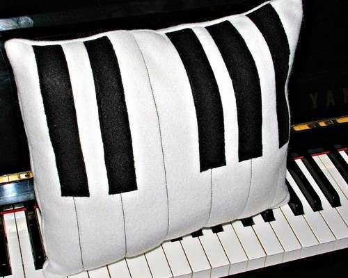 piano pillow case