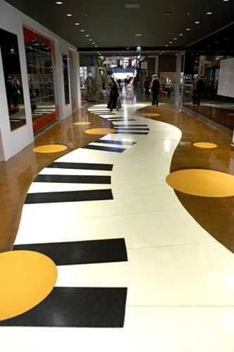 piano floor decor