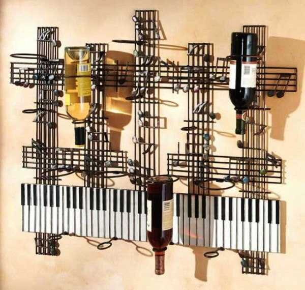 piano wine bottle rack