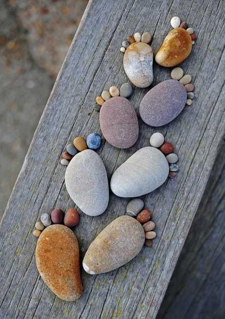 craft ideas using beach pebbles