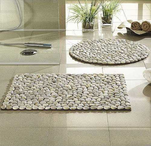 pebbles floor mats in various shapes