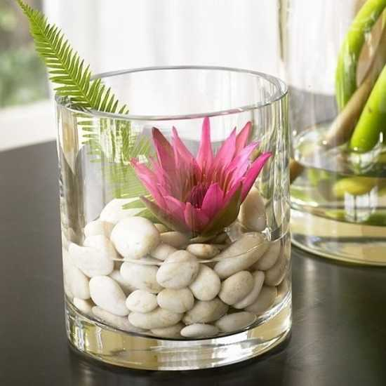 Creative craft ideas making home decorations with beach for Grand vase decoration salon