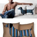 decorative pillows with dog image
