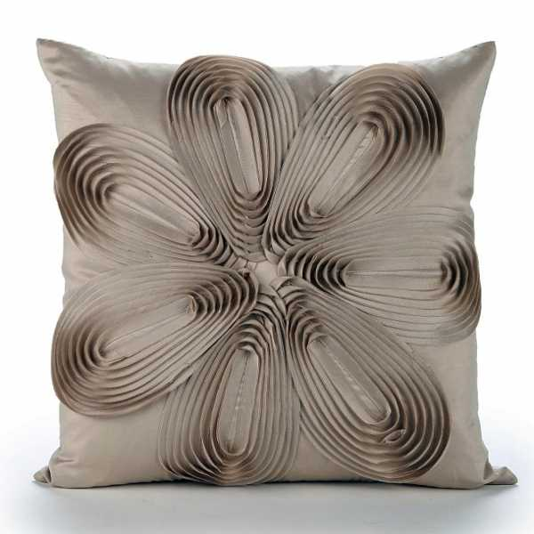 accent pillow with 3d floral design