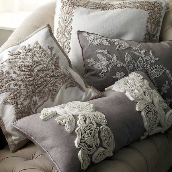 20 Creative Decorative Pillows, Craft Ideas Playing with Texture and ...