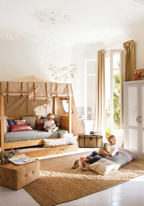 Creative kids room decorating ideas for young travelers for Creative kid bedroom ideas