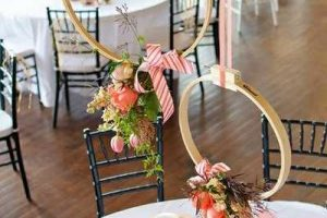hanging decorations made with wooden embroidery rings