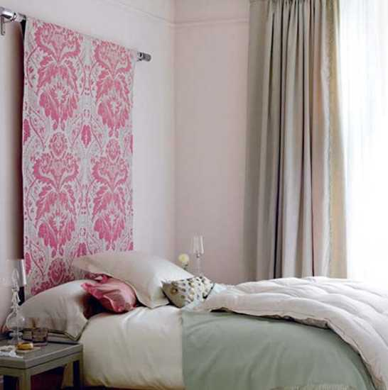 bedroom decorating with fabric