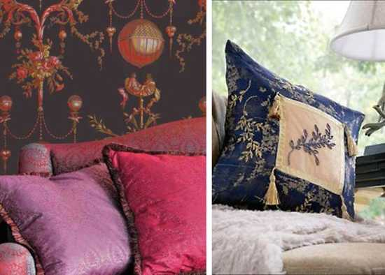 decorative pillows made of satin fabrics