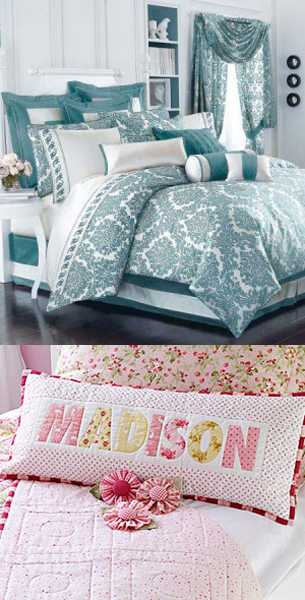 decorative pillows and bedding sets