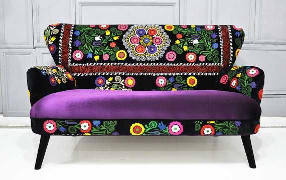 Suzani Furniture Upholstery Fabric