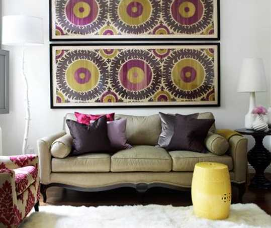 Purple And Pink Kitchen Colors Adding Retro Vibe To Modern: Latest Trends In Decorating, Suzani Textiles And Bold