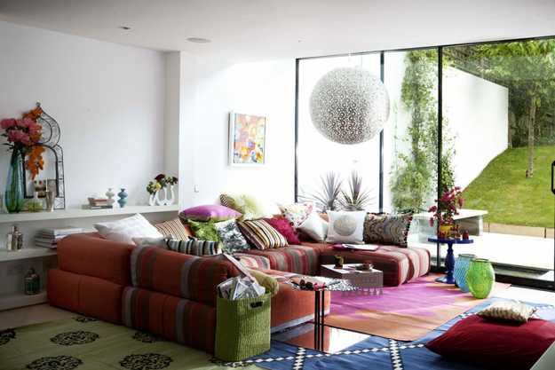 pink and green living room decorating ideas