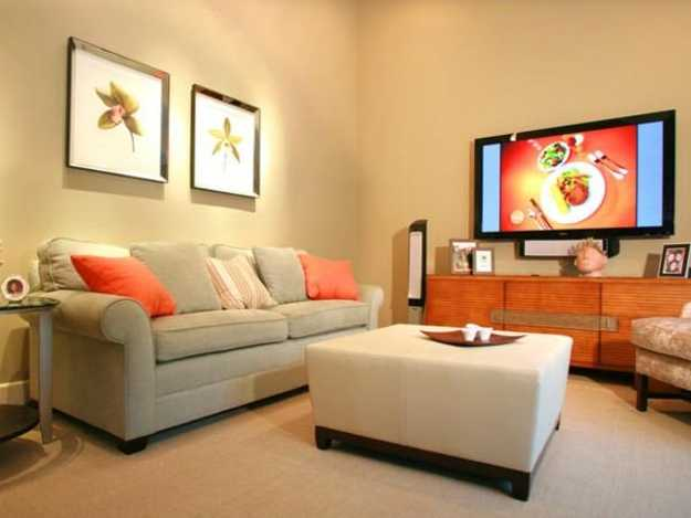 orange accent pillows for living room decorating