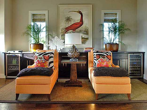 orange living room furniture upholstery fabric and colorful accent pillows