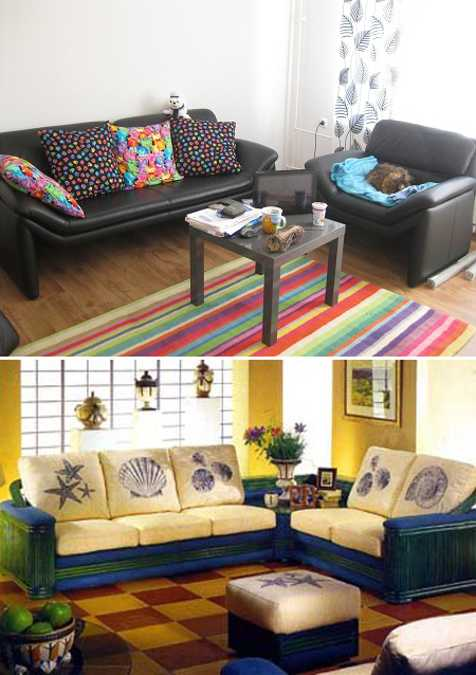 living room decorating with accent pillows