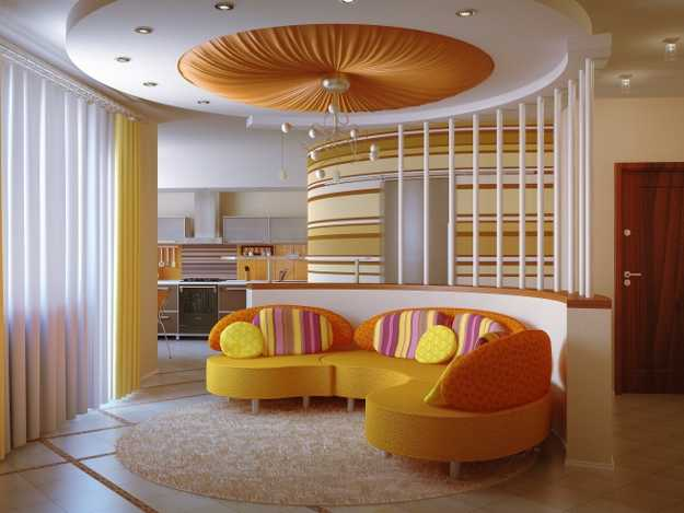 modern living room sifa with yellow decorative pillows