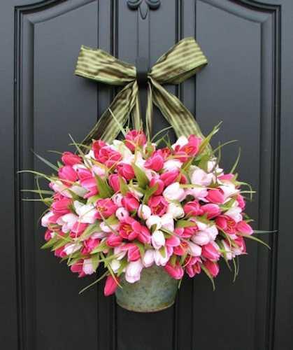 door decorating in spring