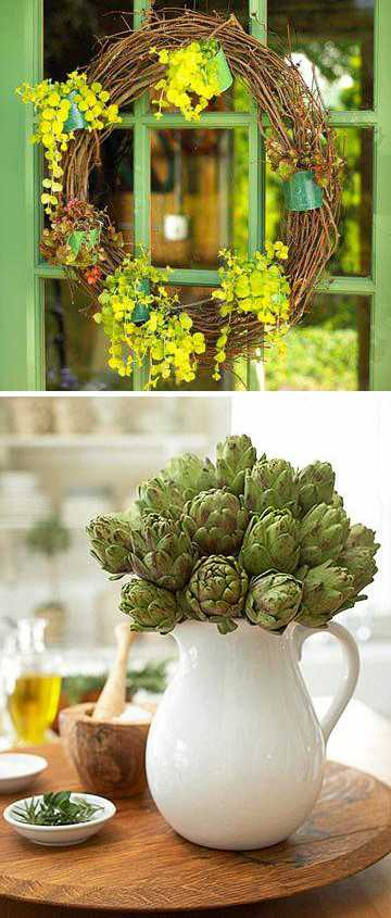 green colors for spring home decorating