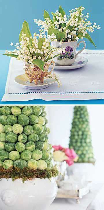 unusual table centerpiece for spring table decorating