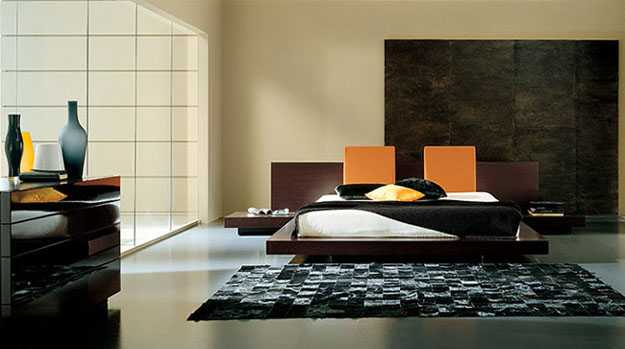 bedroom decorating in minimalist style with loe furniture