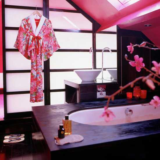 bathroom decor in japanese style