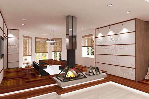 Asian interior decorating in japanese style for Japanese living room ideas