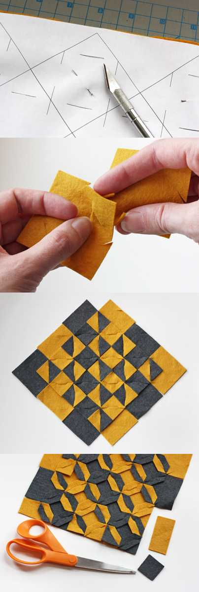 origami fabric place mats