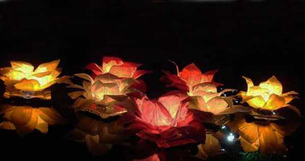 handmade paper flower floating lights