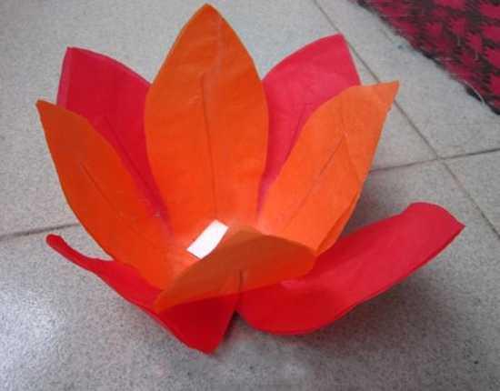 red paper flower light