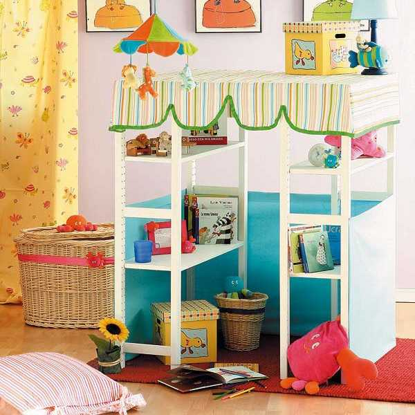 3 bright interior decorating ideas and diy storage - Childrens small bedroom furniture solutions ...