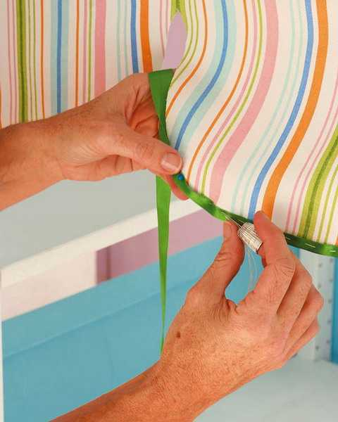 striped fabrics in bright colors for kids room decorating