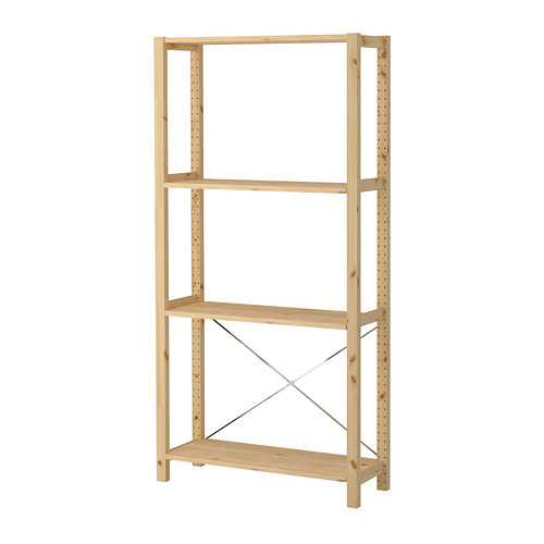 wooden storage shelving