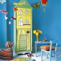 fabric painting ideas for designing kids storage spaces