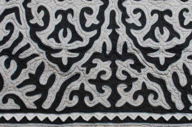 floor rug in black and white