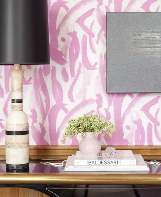 interior decorating with white and pink color combination