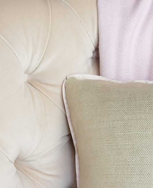 white and gray pillows