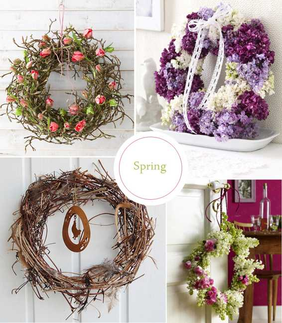 30 colorful wreaths add creative designs to spring home Decorative wreaths for home