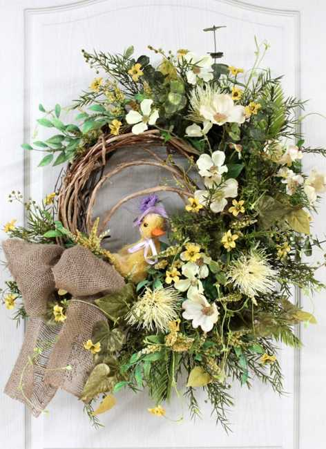 Spring Fabric Wreath